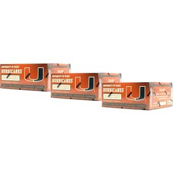 2015 Panini Miami Hurricanes Multi-Sport 24-Pack Box (Lot of 3)