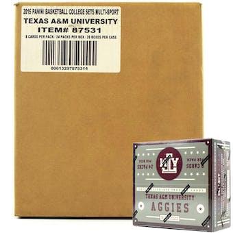 2015 Panini Texas A&M Aggies Multi-Sport 24-Pack 20-Box Case