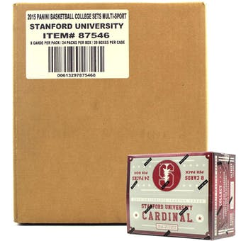 2015 Panini Stanford Cardinal Multi-Sport 24-Pack 20-Box Case