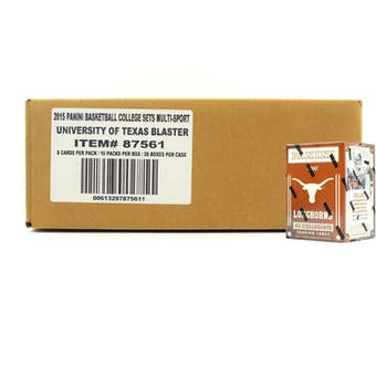 2015 Panini Texas Longhorns Multi-Sport Blaster 20-Box Case