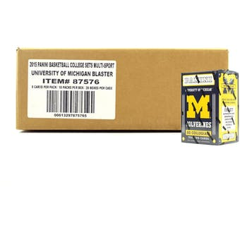 2015 Panini Michigan Wolverines Multi-Sport Blaster 20-Box Case