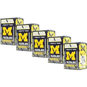 2015 Panini Michigan Wolverines Multi-Sport Blaster Box (Lot of 5)