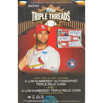 2010 Topps Triple Threads Baseball Hobby Box