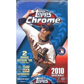 2010 Topps Chrome Baseball Hobby Box