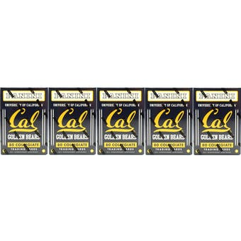2015 Panini California Golden Bears Multi-Sport Blaster Box (Lot of 5)