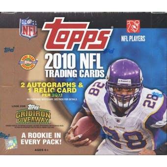 2010 Topps Football Jumbo Box