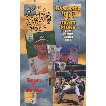1994 Topps Stadium Club Draft Picks Baseball Hobby Box