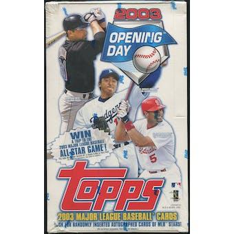 2003 Topps Opening Day Baseball Box