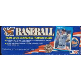 1987 Fleer Glossy Baseball Factory Set