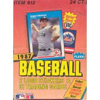 1987 Fleer Baseball Cello Box