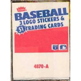 1987 Fleer Baseball Rack Box