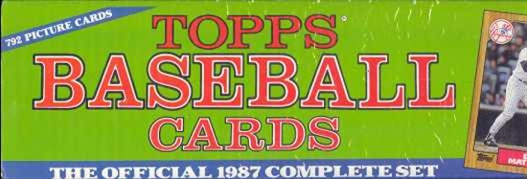 1987 Topps Baseball Factory Set Christmas Set Da Card