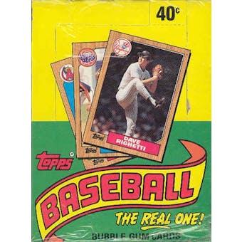 1987 Topps Baseball Wax Box (Factory Sealed-Very Scarce!) (Reed Buy)