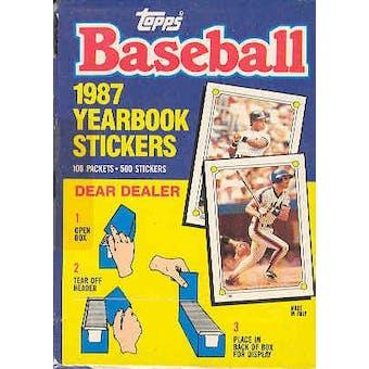 1987 Topps Baseball Yearbook Stickers Wax Box