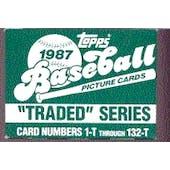 1987 Topps Traded & Rookies Baseball Factory Set