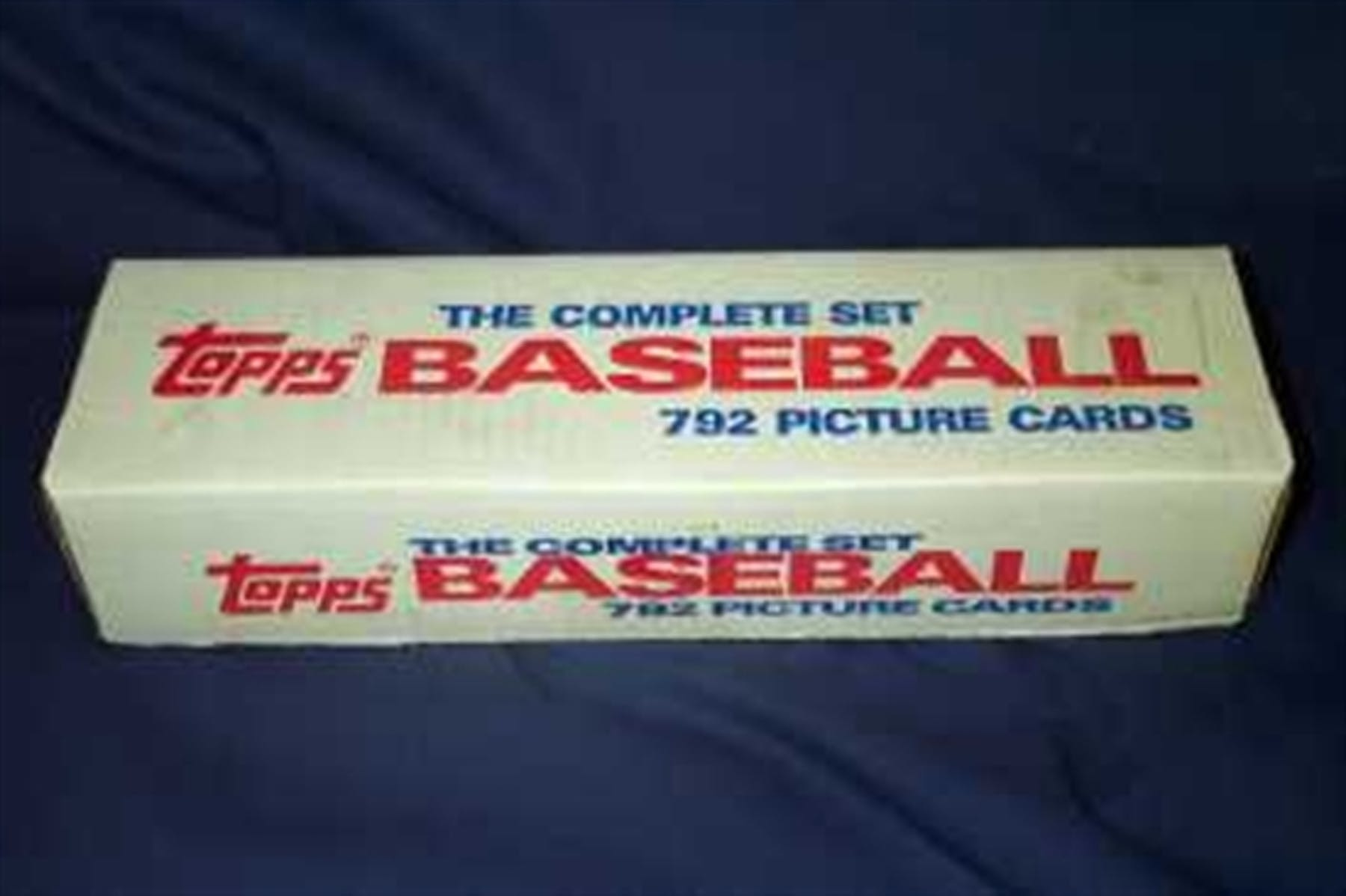 1988 Topps Baseball Factory Set White Box In 1987 Topps Set Box