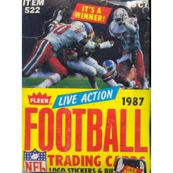 1987 Fleer Live Action Football Wax Box