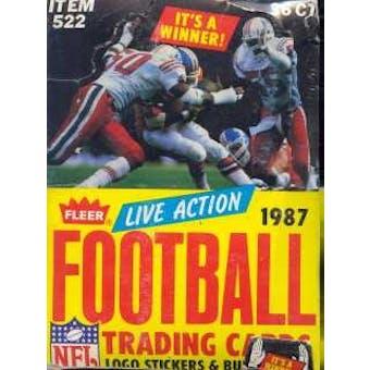 1987 Fleer Live Action Football Wax Box