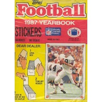 1987 Topps Yearbook Stickers Football Box