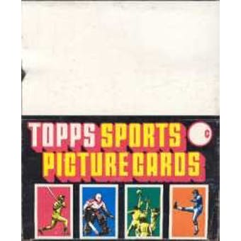 1987 Topps Football Rack Box
