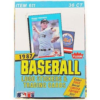 1987 Fleer Baseball Wax Box