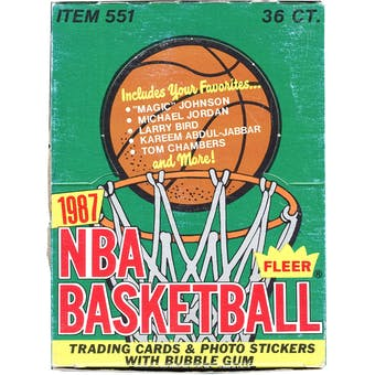 1987/88 Fleer Basketball Wax Box