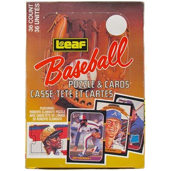 1987 Leaf Baseball Wax Box (Reed Buy)