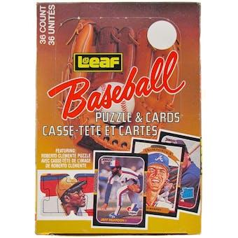 1987 Leaf Baseball Wax Box