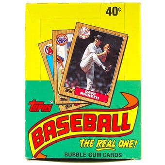 1987 Topps Baseball Wax Box