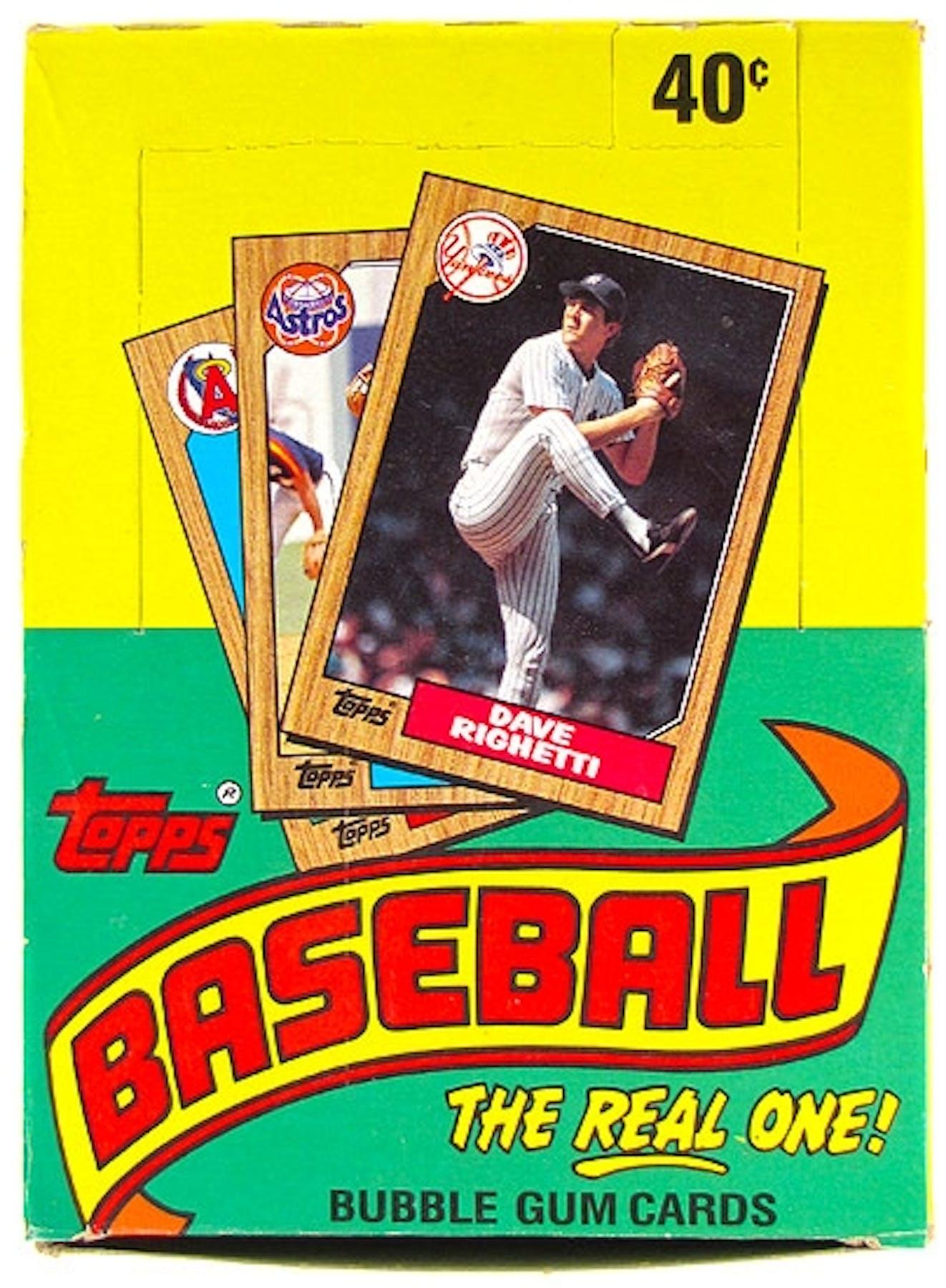 1987 Topps Baseball Wax Box Da Card World