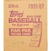 1987 Topps Baseball 3 Box Rack Case (Reed Buy)
