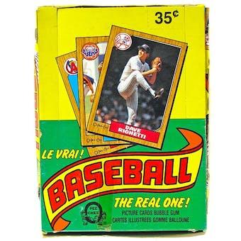 1987 O-Pee-Chee Baseball Wax Box