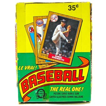 1987 O-Pee-Chee Baseball Wax Box