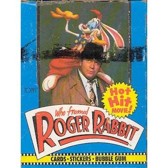 Who Framed Roger Rabbit? Wax Box (1988 Topps)