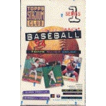 1994 Topps Stadium Club Series 1 Baseball Hobby Box