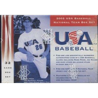 2002 Upper Deck Team USA Baseball Factory Set (Box)