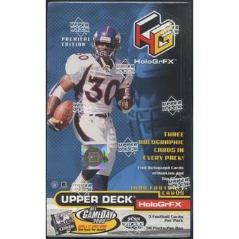 1999 Upper Deck Hologrfx Football Box