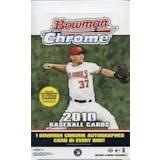 2010 Bowman Chrome Baseball Hobby Box