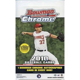 2010 Bowman Chrome Baseball Hobby Box (Reed Buy)