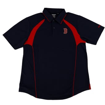 Boston Red Sox Reebok Dark Navy Trainer Performance Polo Shirt (Adult M)