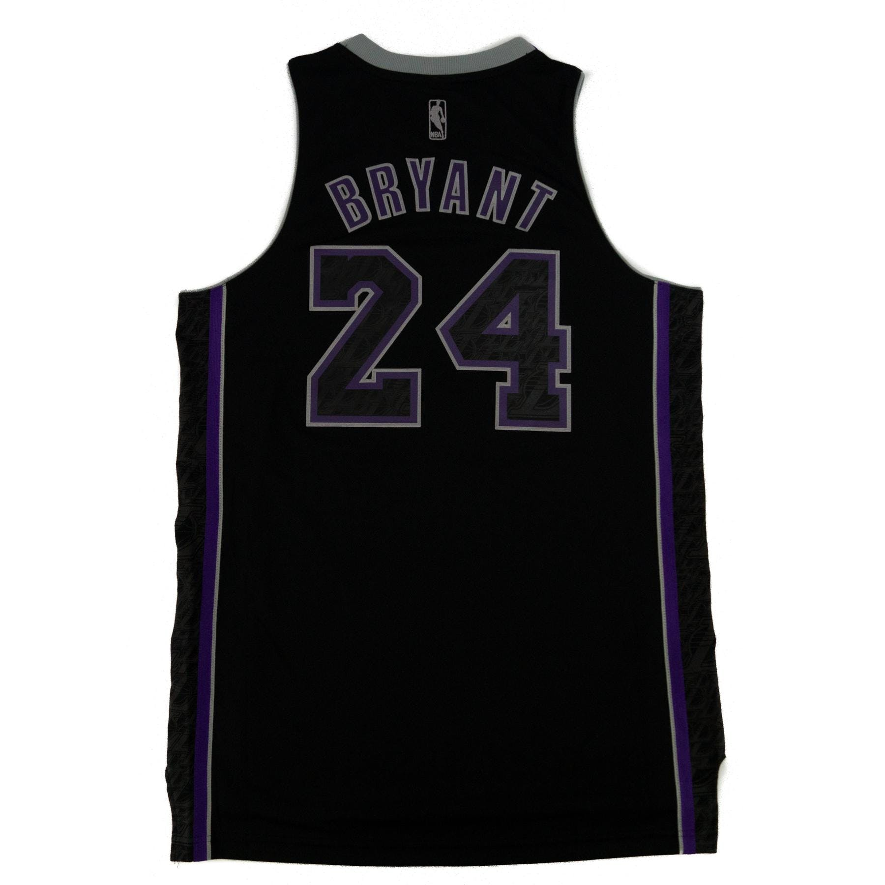 ba1ad2450f7 Kobe Bryant Los Angeles Lakers Black Adidas Carbon Jersey