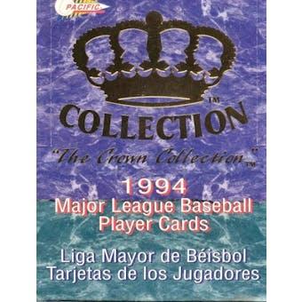 1994 Pacific Crown Collection Baseball Hobby Box