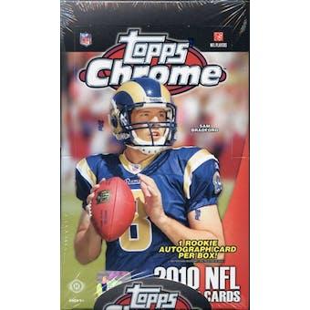2010 Topps Chrome Football Hobby Box