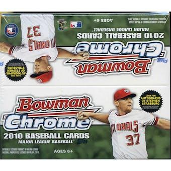 2010 Bowman Chrome Baseball 24-Pack Box