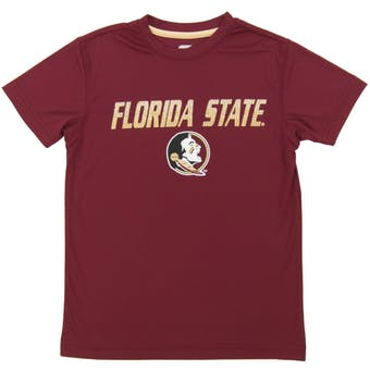 Florida State Seminoles Colosseum Maroon Youth Performance Digit Tee Shirt (Youth M)