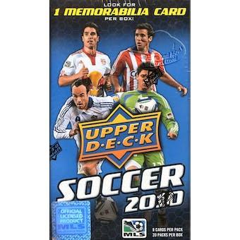 2010 Upper Deck Soccer 20-Pack Box