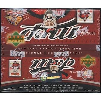 2003/04 Upper Deck MVP Hockey 24-Pack Box