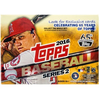 2016 Topps Series 2 Baseball 10-Pack Box