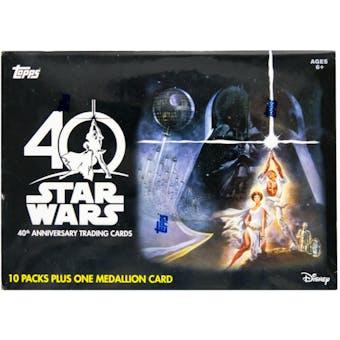 Star Wars 40th Anniversary 10-Pack Blaster Box (Topps 2017)