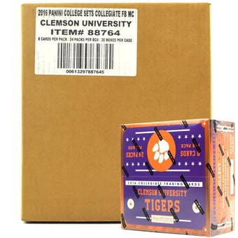 2016 Panini Clemson Tigers Multi-Sport 24-Pack 20-Box Case